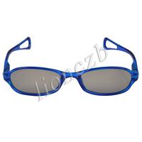 Blue Child Kids Spring Hinges Passive Circular Polarized Lens 3D Glasses 6602