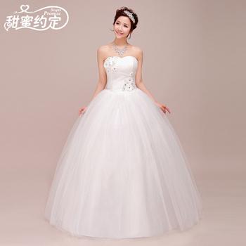 белый 2014 сексуальные невесты с плеча сладкий королевский стиль повязку принцесса свадебное платье для цветочных лук дизайн slim свадебное платье