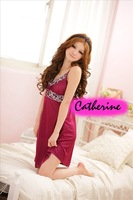 F7018, lovers pyjamas, lace meryl braces dresses, summer sleepingwear nightgowns