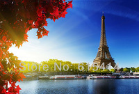"16 Eiffel Tower Paris France Autum 35""x24"" Inch Wallpapr Sticker Poster"