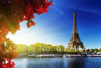 "16 Eiffel Tower Paris France Autum 35""x24"" Inch Wallpapr Sticker Poster"
