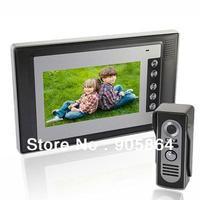 7 Inch Video Door Phone Doorbell Intercom Kit 1xmonitor + 1xcamera Night Vision