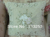 NO.114P  free shipping new floral fashion luxury beautiful cheap pillow case for living loom sofa bed and car