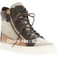 Snake Skin Lace Up Women Trendy Sneaker