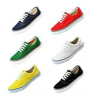 Free Shipping 2013 New Arrival Unisex Canvas Shoes Low-top Sneakers Shoes for Men and Women Lovers Casual shoes Euro35-45