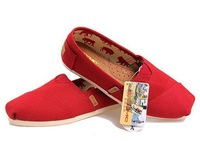 NEW SXMQ (NOT TOMS) LOW CARBON SUMMER UNISEX FASHION LEISURE FLAT CANVAS SHOES FOOTWEAR FREE SHIPPING Red TOP53275 #22