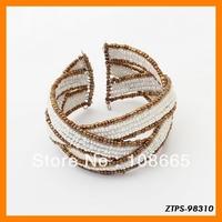 Free  Shipping 12pcs/lot  2013 Vogue Bohemian Bead Bracelet Wrap Chain Bracelet Wholesale ZTPS-98310