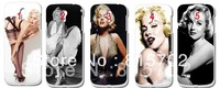 Wholesale Marilyn Monroe style Hard Case Cover for Galaxy S4 SIV  I9500 10pcs/lot free shipping