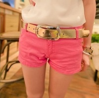 Free shipping Kaka multicolour candy color casual denim shorts