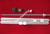 1  ball screw SFU1605-300mm + 2set SBR16-300mm  linear rails guide  & SBR16UU  + 4 SBR16UU + BK12 / BK12 + coupler 6.35mm * 8mm