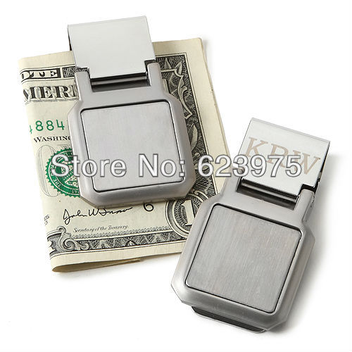 Personalized Folding Money Clip (Set of 4 Pieces individually gift boxed)(China (Mainland))