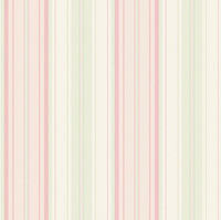 Pink & White Lines Striped  Texture Nonwove Wallpaper Livingroom/Background/