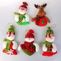 Freeshipping Christmas decoration supplies christmas pendant christmas tree small fabric plush pendant 10g