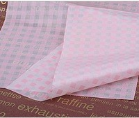 15*21cm pink plaid gift wrapping paper oilproof gift wrappers Handmade soap tissue paper, greaseproof wax paper for gift candy