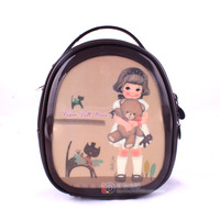 Cartoon paper doll mate backpack child school bag girls cosmetic cross-body bag