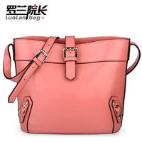 Rowland 2013 candy cowhide female bags shoulder bag cross-body messenger bag bucket bag g10-03