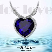 PDRN-YG574 ,Fashion Jewelry Wholesale ,Titanic,sapphire luxury Crystal Necklace ,Heart Of Ocean Necklace