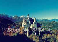 "14 New Swan Stone Castle Schloss Neuschwanstein 19""x14"" Inch Wallpapr Sticker Poster"
