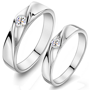 Q9 sheery lovers ring a pair ring pure silver gift accessories
