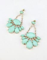 The appendtiff ! beautiful gem acrylic rhinestone drop pendant earrings stud earring