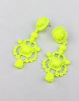 Neon color painted royal earrings stud earring