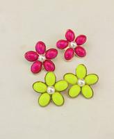 The appendtiff ! multicolour flower earrings stud earring
