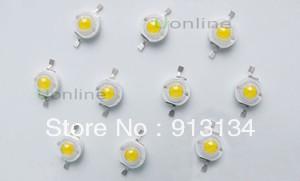 free shipping 10pcs  3W 3watt High Power LED Light Lamp Bead 180 200LM 3 6 3 8V Warm White DIY