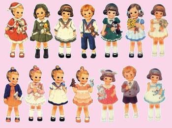 10 piece/lot Retro European Kids Heat Transfer Film Sticker, Heat Transfer Printing, Iron-on Film Sticker DROP SHIPPING TB10242