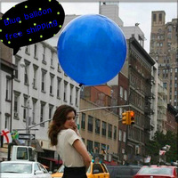 Free shipping Balloons Party Decoration 36 Inch Giant Blue Latex Balloons For Christmas Halloween wedding Wholesale and retail