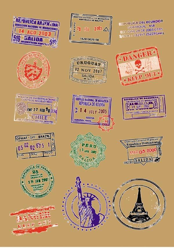 6 piece/lot A4 Size Heat Transfer Film, Worldwide Postmarks Iron-on Fabric Sticker, Heat Transfer Printing Wholesale & Retail(China (Mainland))