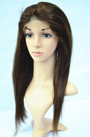 Free shipping  for DHL.100%human hair.. Brazilian lace wig . straight wave hair.no tangle  1pcs/lot  best selling product,