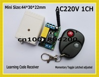 AC220V Remote Contro Switch for Light Lamp Bulb Remote ON OFF Transitter Receiver Input 220V Output 220V Learning Code 315/433MH