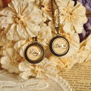 free shipping Left bank handmade vintage name necklace birthday wedding anniversary gift male(China (Mainland))