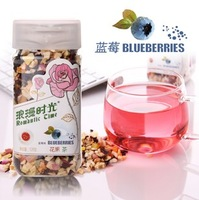 FREE SHIPPING 128g Detoxifies rose romantic flower fruit tea time fruit tea grapefruit blueberry strawberry