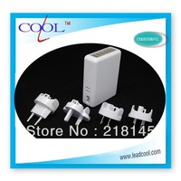 4A 6 Port USB AC Adapter US / EU / UK / AU Plug Wall Charger for iPhone 4 / 4S for iPad 2 / 3 mp3 mp4