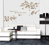 Free Shipping Wholesale--Wall Sticker 10Sets/Lot High Quality The Decoration Of Home Wall Stickers Decor 150x75cm 3 Colors