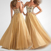 Hot sale Golden Sexy wedding Cocktail dress Sequens Bling Evening Patry Dresses LF103