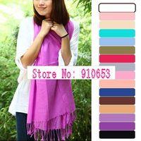 10Pcs Pashmina Cashmere Silk Solid Shawl Wrap Women's Girls Ladies Scarf Accessories ZK0120