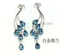 Free shipping FashionItalina Rigant18K White/Rose Gold Plated Crystal EarringwholesaleNew Arrivel fashion bijouterie lovers gift