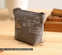 Hot Women/Lady/Girl Retro Coin Bag Purse Wallet Card Case Vogue Classic Handbag Gift   Gray Bike