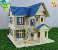Wood 3d puzzle wood puzzle educational toys Beach Villa building model