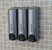 3 head Silver hand sanitizer soap dispenser, bathroom manual liquid soap, Box hand sanitizer bottle soap dispenser