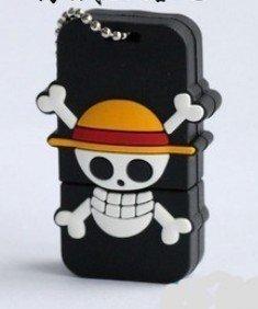 Creative Skeleton Head One Piece B USB 2.0 Genuine 4GB 8GB 16GB 32GB Memory Stick Flash Drive