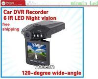 "Free shipping IR Vehicle in-Car DVR Dash Cam Camera Road Video Recorder Night Vision 270 2.5""mini Car Dvr H198"
