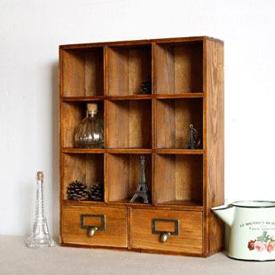 Free Shipping 10 Pcs/Lot Zakka vintage retro home decoration finishing storage cabinet display cabinet storage cabinet ridel