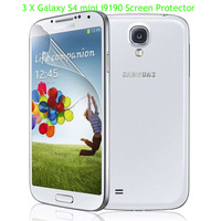 3X Clear LCD Screen Protector Skin Cover Film Guard Samsung Galaxy S4 SIV mini i9190 GT-i9190 With Retail Package,free shipping
