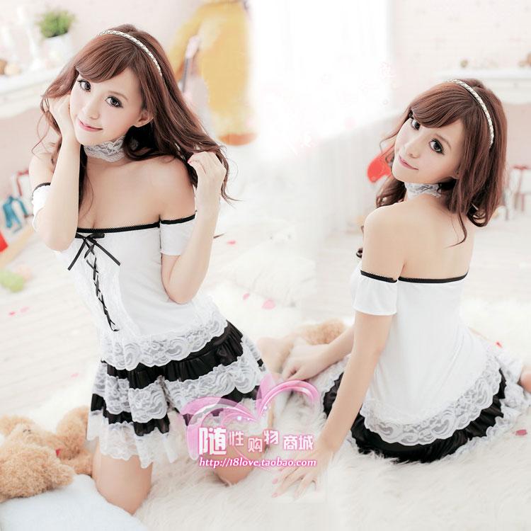 Sweet ! maid equipment loaded cos princess game uniforms temptation(China (Mainland))