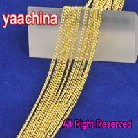 Free Shipping 5PCS 26 Inches 18K GF Gold Jewelry 18K Yellow Gold Filled Necklaces Flat Curb Chain GF Gold  Jewelry Set Pendant