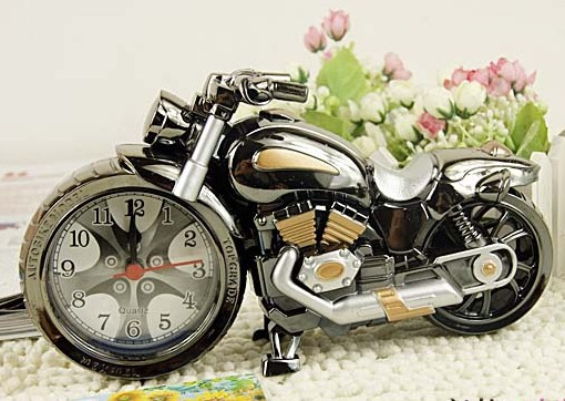 Fashion cool motorcycle model personality the alarm clock child alarm clock(China (Mainland))