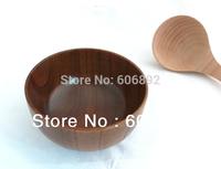 Free Shipping 5pcs/lot wooden bowl  eco-friendly wood rice bowl ,log wood bowl, child bassie 11.5*6.7cm